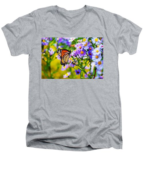 Monarch Butterfly 4 Men's V-Neck T-Shirt