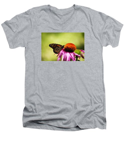Monarch Glow Men's V-Neck T-Shirt by Shelly Gunderson
