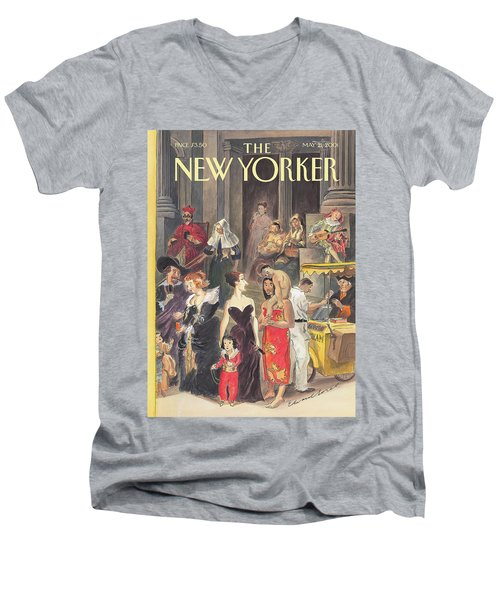 Monday At The Met Men's V-Neck T-Shirt