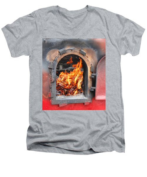 Money 2 Burn Men's V-Neck T-Shirt