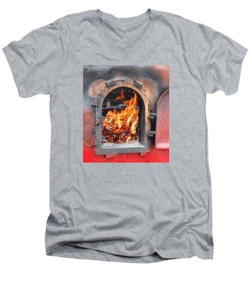 Money 2 Burn Men's V-Neck T-Shirt