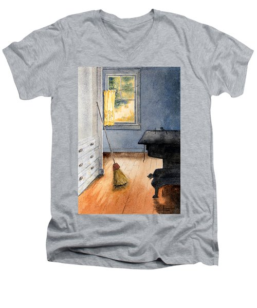 Monhegan Kitchen Men's V-Neck T-Shirt