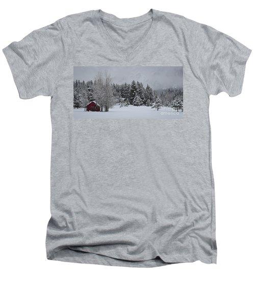 Montana Morning Men's V-Neck T-Shirt by Diane Bohna