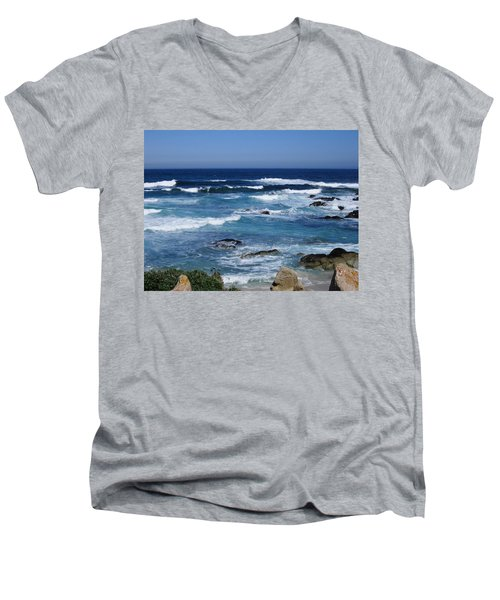 Men's V-Neck T-Shirt featuring the photograph Monterey-9 by Dean Ferreira