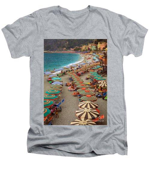 Monterosso Beach Men's V-Neck T-Shirt