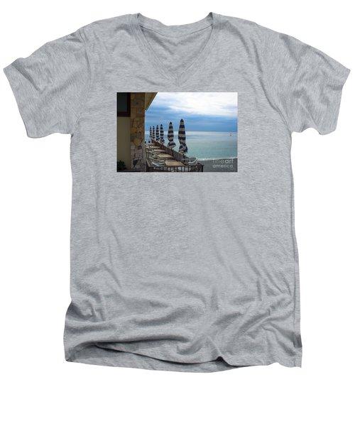 Monterosso Outdoor Cafe Men's V-Neck T-Shirt
