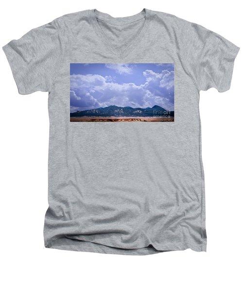Montezuma County Landmark Men's V-Neck T-Shirt by Janice Rae Pariza