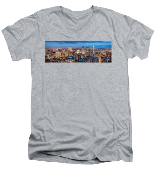 Montreal Panorama Men's V-Neck T-Shirt