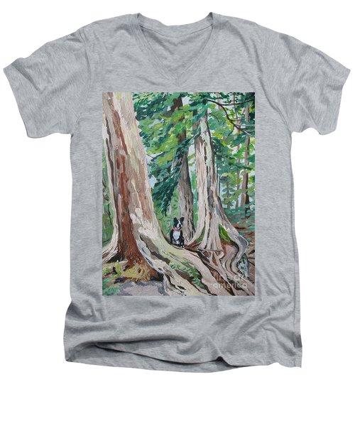 Monty's Travels Men's V-Neck T-Shirt