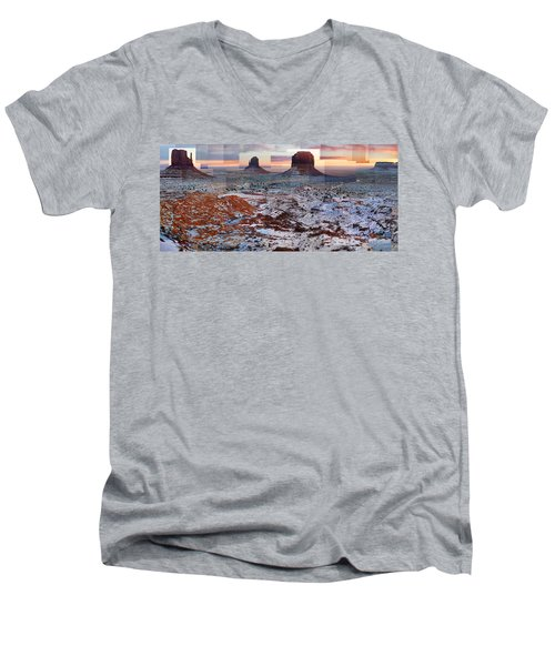 Monument Valley Mittens Men's V-Neck T-Shirt