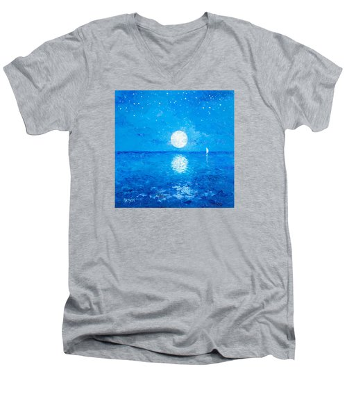 Moon And Stars Men's V-Neck T-Shirt