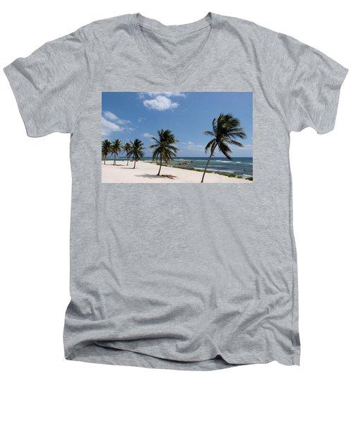 Moon Bay Men's V-Neck T-Shirt by Amar Sheow