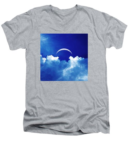 Moon Cloud Men's V-Neck T-Shirt