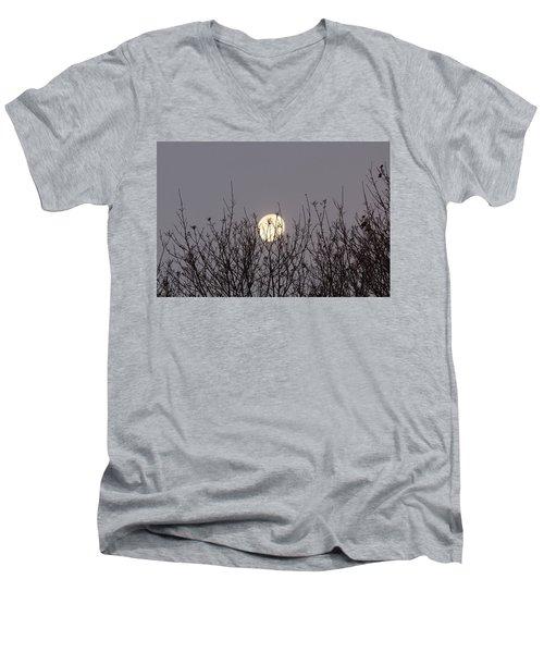 Moon Fall Men's V-Neck T-Shirt