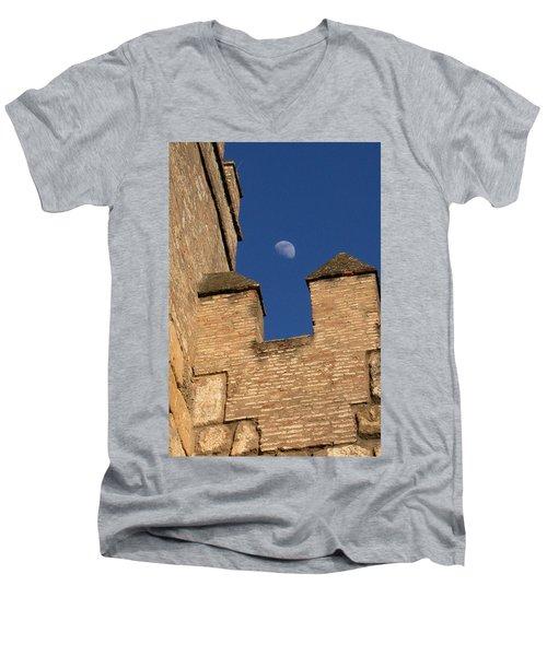 Moon Over Alcazar Men's V-Neck T-Shirt