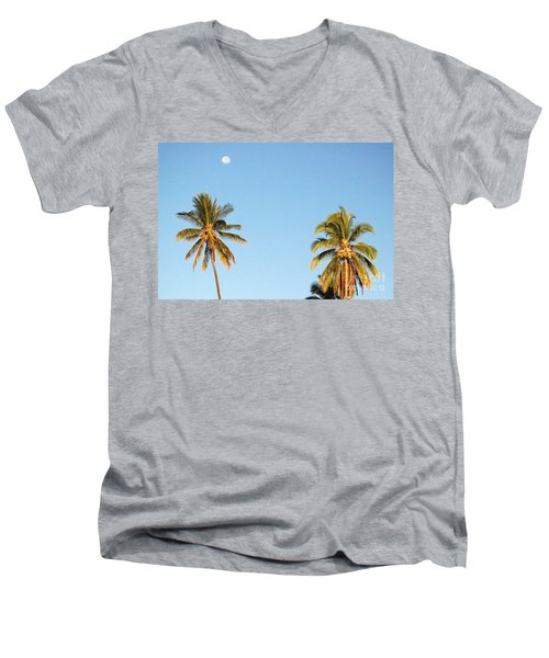 Moon Over Molokai Men's V-Neck T-Shirt