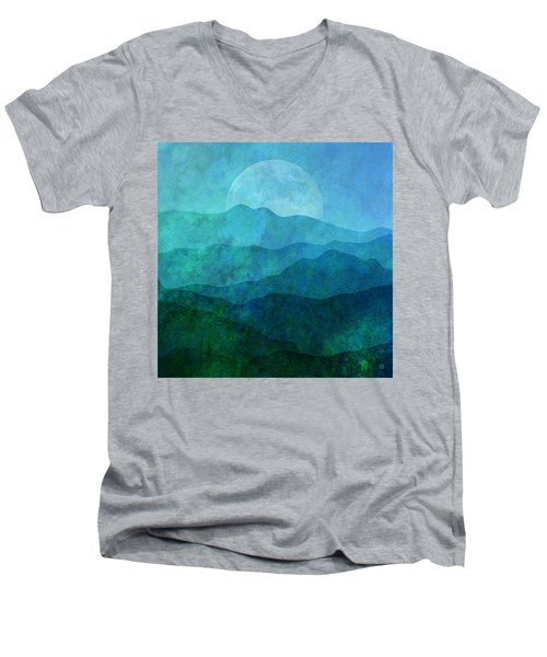 Moonlight Hills Men's V-Neck T-Shirt