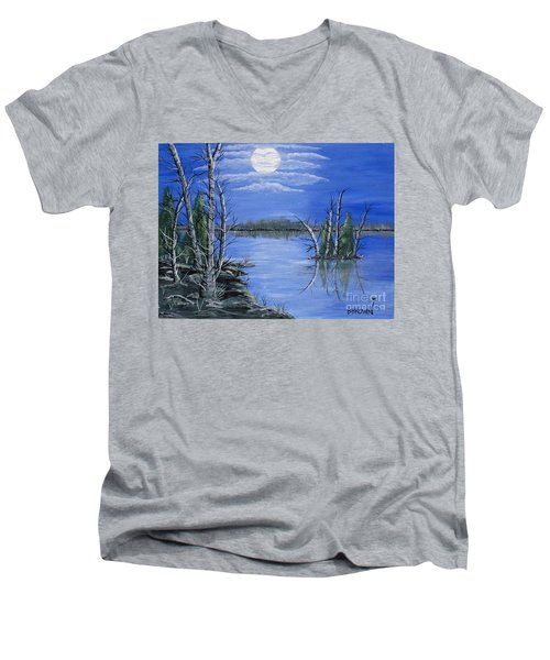 Moonlight Mist Men's V-Neck T-Shirt