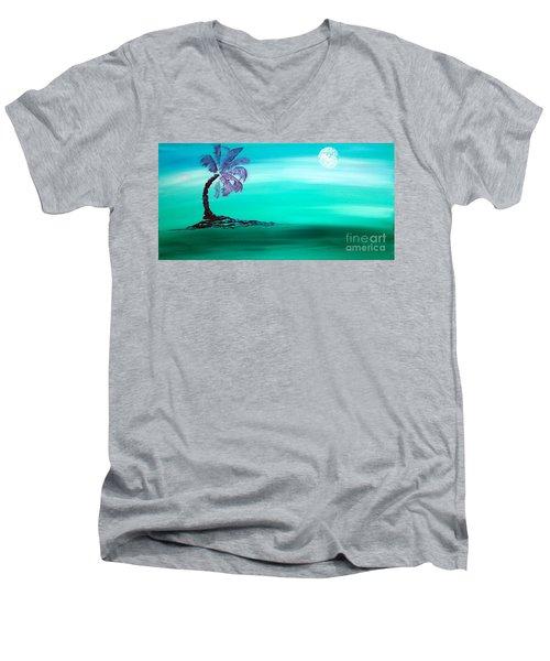 Moonlit Palm Men's V-Neck T-Shirt