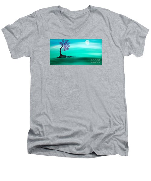 Moonlit Palm Men's V-Neck T-Shirt
