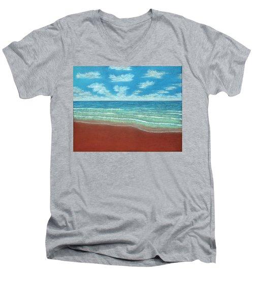 Moonset B Men's V-Neck T-Shirt