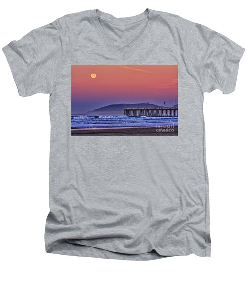 Moonset Men's V-Neck T-Shirt