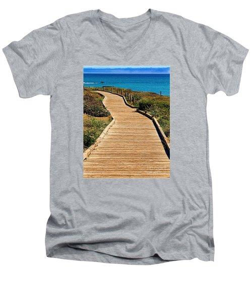 Moonstone Beach Park By Diana Sainz Men's V-Neck T-Shirt