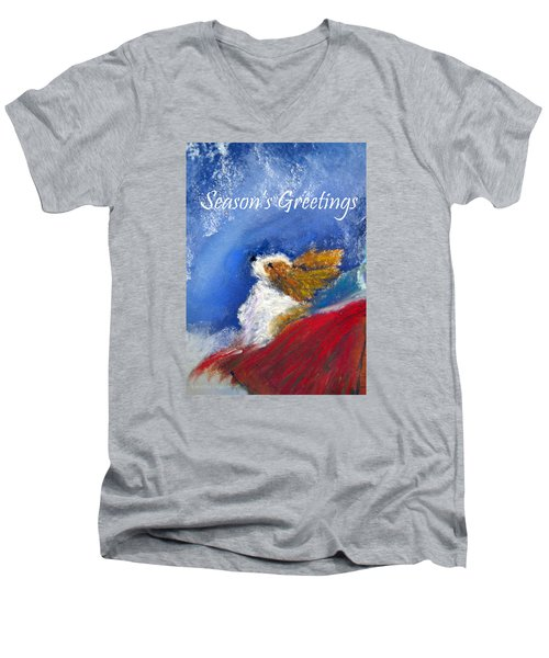 Moonstruck Holiday Card Men's V-Neck T-Shirt