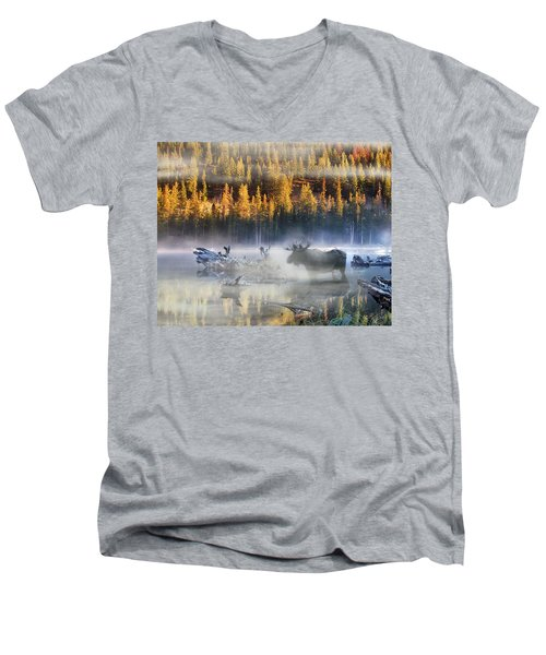 Moose Lake Men's V-Neck T-Shirt