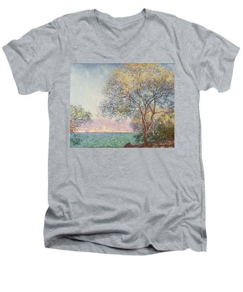 Morning At Antibes Men's V-Neck T-Shirt by Claude Monet