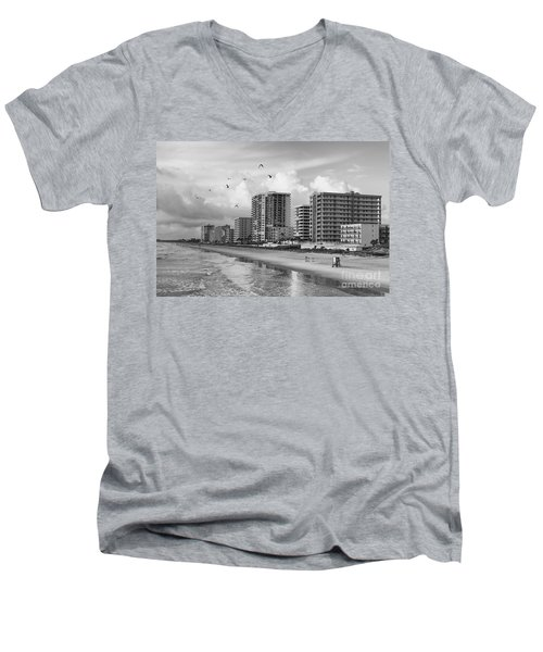 Morning At Daytona Beach Men's V-Neck T-Shirt