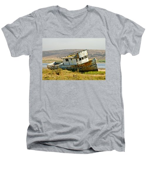 Morning At The Pt Reyes Men's V-Neck T-Shirt by Bill Gallagher