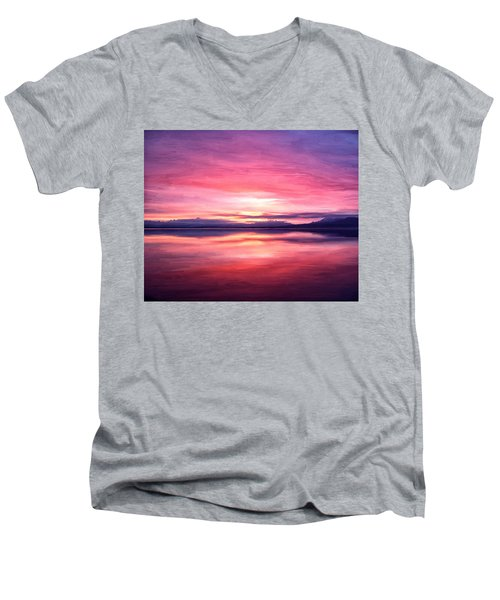 Morning Dawn Men's V-Neck T-Shirt by Michael Pickett