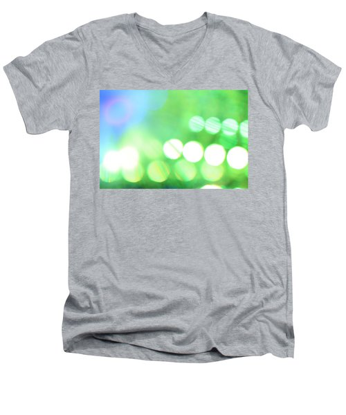 Men's V-Neck T-Shirt featuring the photograph Morning Dew by Dazzle Zazz
