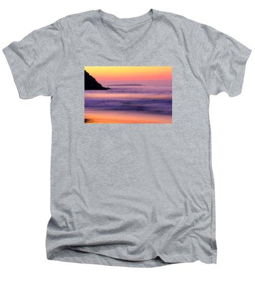 Morning Dream Singing Beach Men's V-Neck T-Shirt by Michael Hubley