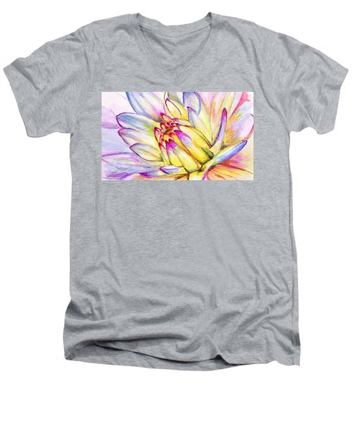 Morning Flower Men's V-Neck T-Shirt
