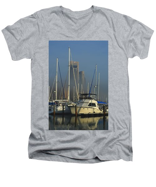 Morning Fog Ll Men's V-Neck T-Shirt