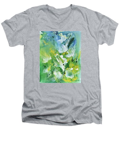 Morning Hillside Men's V-Neck T-Shirt by Craig T Burgwardt