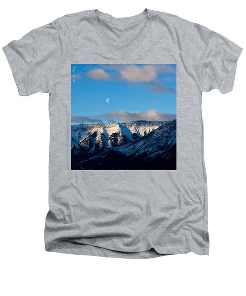 Morning In Mountains Men's V-Neck T-Shirt