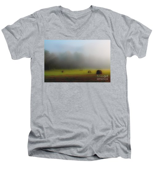 Morning In The Cove Men's V-Neck T-Shirt by Douglas Stucky