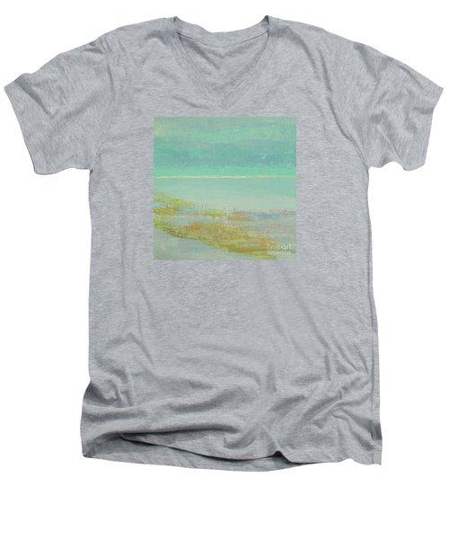 Morning Low Tide Men's V-Neck T-Shirt by Gail Kent