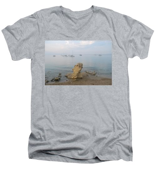Men's V-Neck T-Shirt featuring the photograph Morning Mist 2 by George Katechis