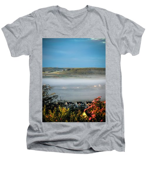 Morning Mist Over Lissycasey Men's V-Neck T-Shirt