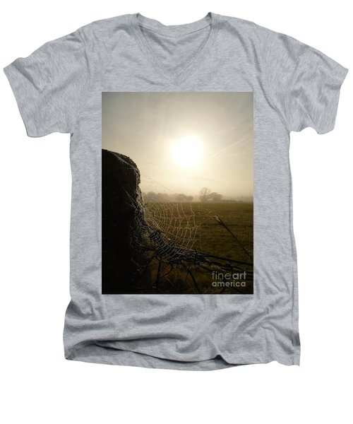Men's V-Neck T-Shirt featuring the photograph Morning Mist by Vicki Spindler