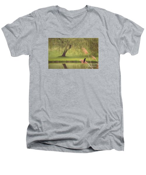 Men's V-Neck T-Shirt featuring the photograph Morning Mood by Rima Biswas