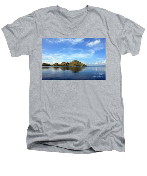 Men's V-Neck T-Shirt featuring the photograph Morning On Komodo by Sergey Lukashin