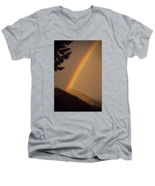 Morning Rainbow Men's V-Neck T-Shirt