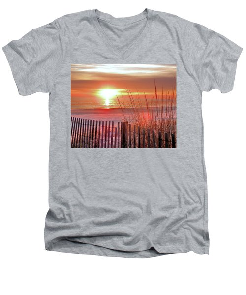 Morning Sandfire Men's V-Neck T-Shirt