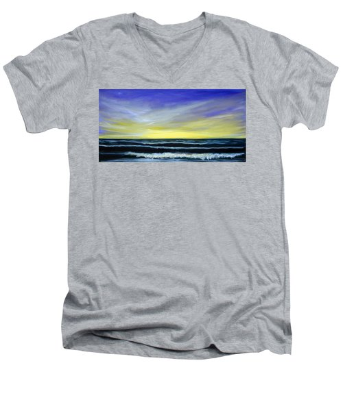 Morning Star And The Sea Oceanscape Men's V-Neck T-Shirt