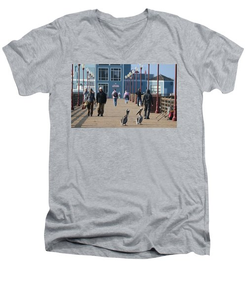 Morning Stroll  Men's V-Neck T-Shirt